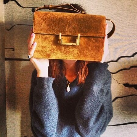 alexa-chung-brown-saint-laurent-handbag-alexa-chung-designer-satchel-alexa-chung-fashion-and-handbags