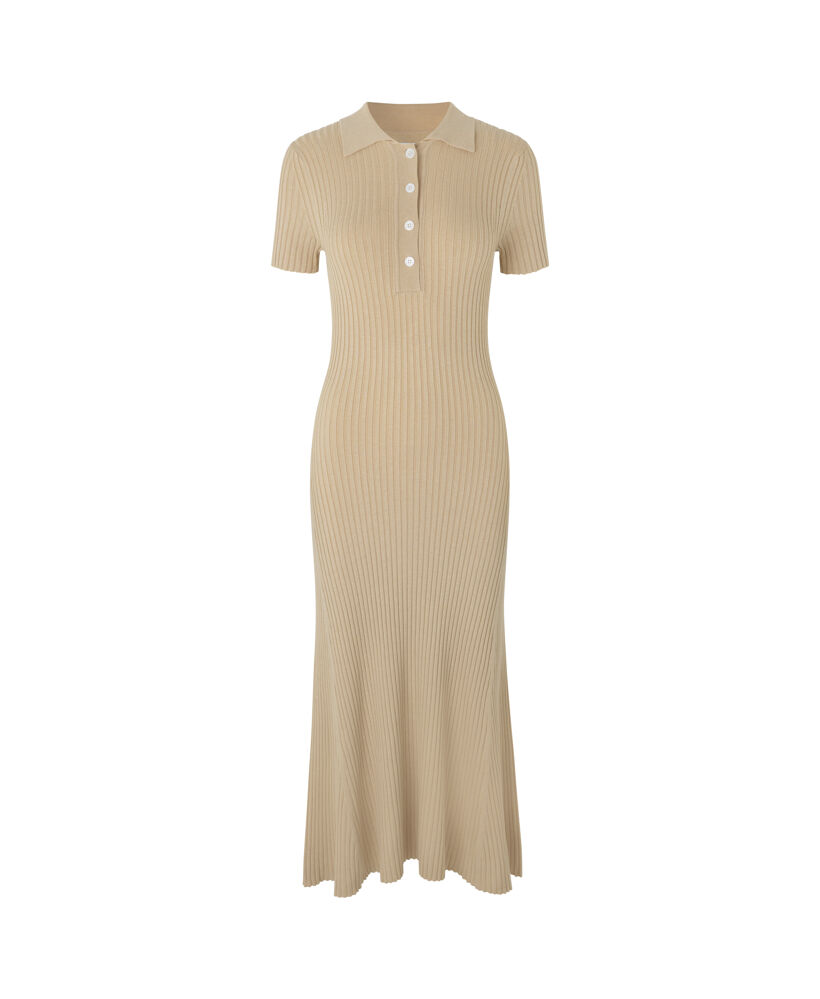 Lucy polo dress 13997 - Brown Rice - 1
