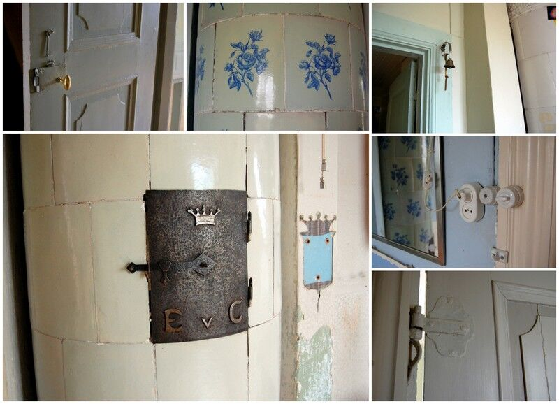 Jag vandrar upp i lite olika sovrum och ser många intressanta detaljer och, som i stort sett alltid i gamla herrgårdar och slott, en hel del mindre lyckade renoveringar.