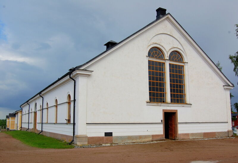 Vi avslutade med att besöka det Vita ridhuset som är det äldsta ridhuset på Strömsholm.