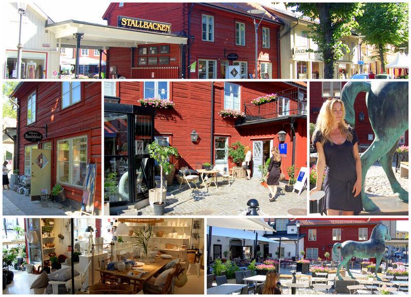 Carina och jag svalkade oss sedan med att åka till Stallbacken i Örebro och titta i CE inredningsbutik och äta konditori Hälls egen glass. Mysigt!