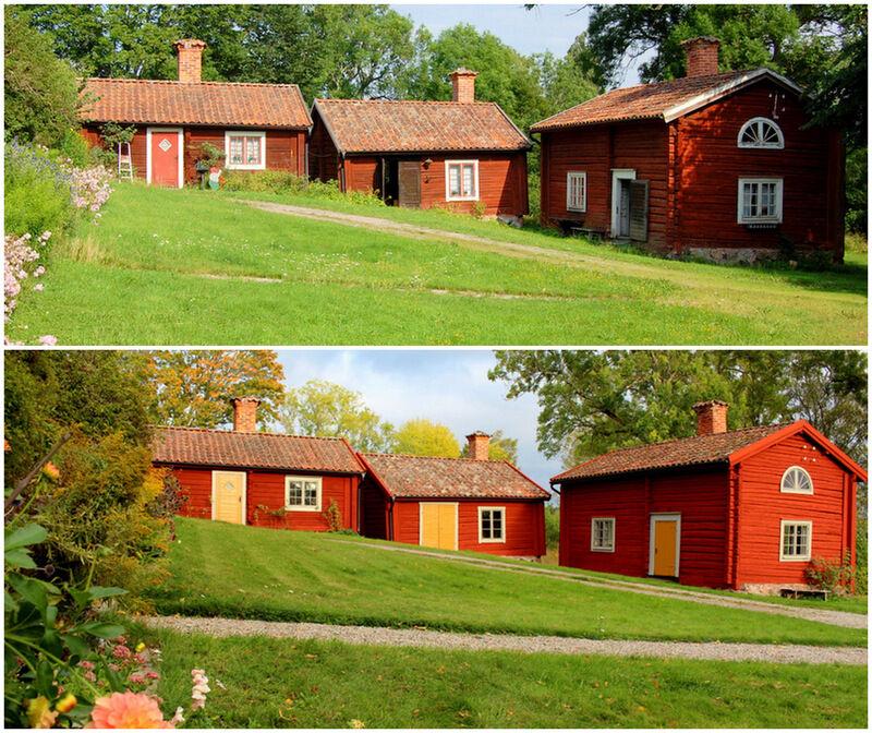 Den övre bilden är tagen innan jag flyttade in för två år sedan. Den nedre tog jag igår. Vilken skillnad!
