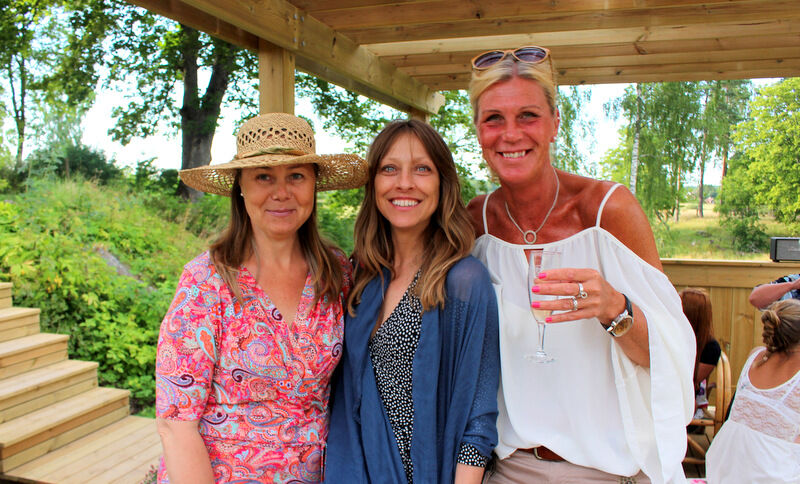 Tre glada favorittjejer; Maria, Carina och Therese.