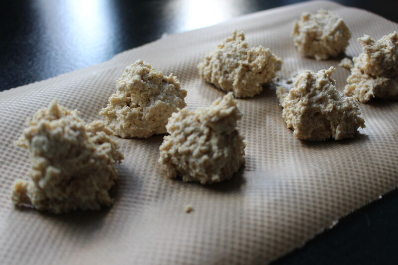 När jag ändå var i farten provade jag att bakade scones på havremjöl.