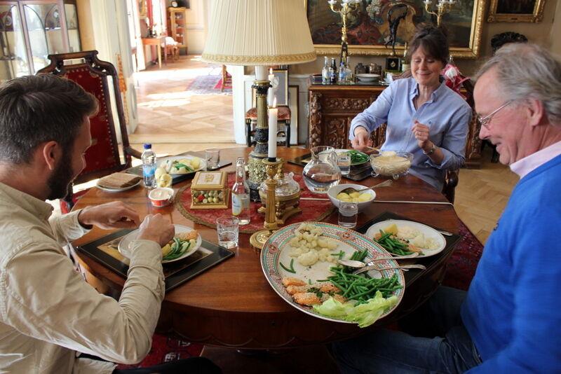 Ann och Robert bjöd oss på en trevlig och god lunch. Så mycket kul att prata om!