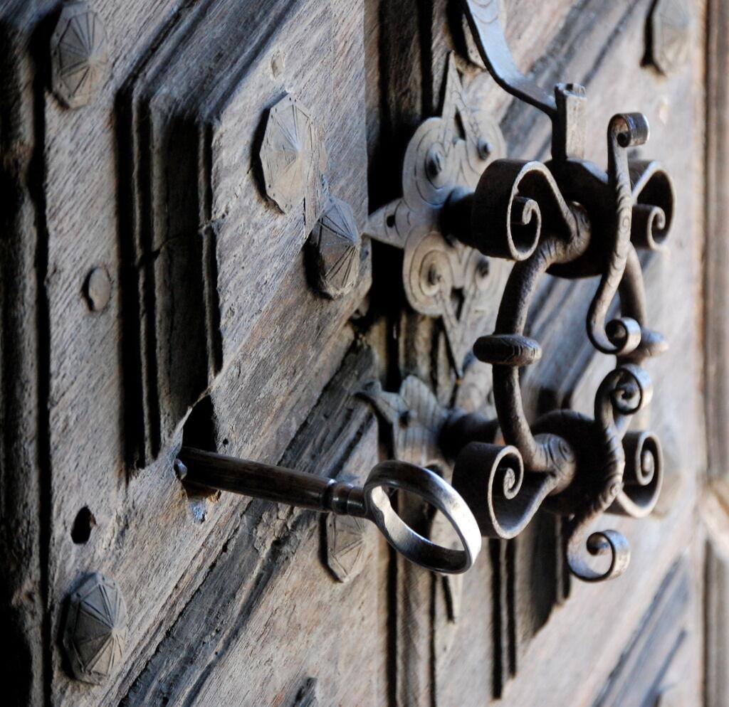 Tänk att samma lås används idag som när Axel Oxenstierna lät bygga slottsflygeln.