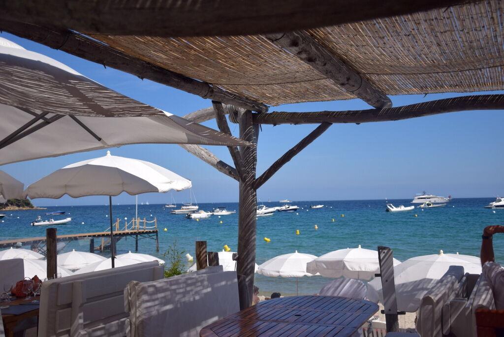 Vi åt härlig lunch på La Tropezina.