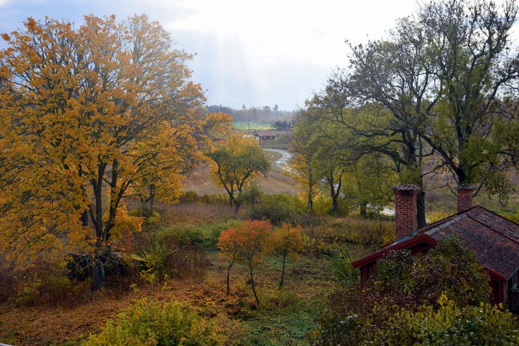 Härlig utsikt från balkongen till mitt sovrum.
