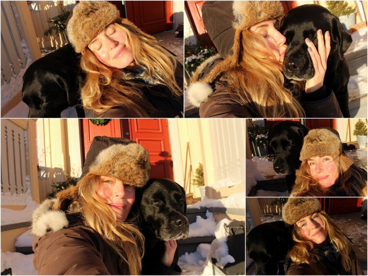 Att ta en bra selfie med en svart labrador var omöjligt. Men tänk, vi kanske borde ha valpar till våren!