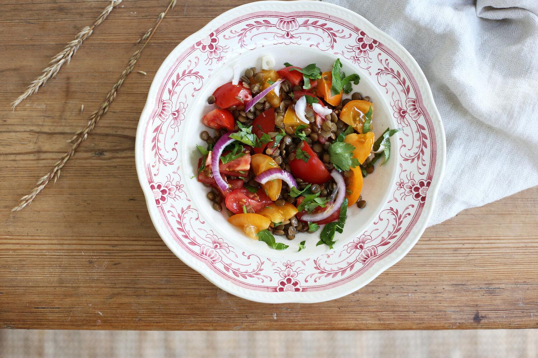 Linssallad med tomat och persilja. Ta till vara.