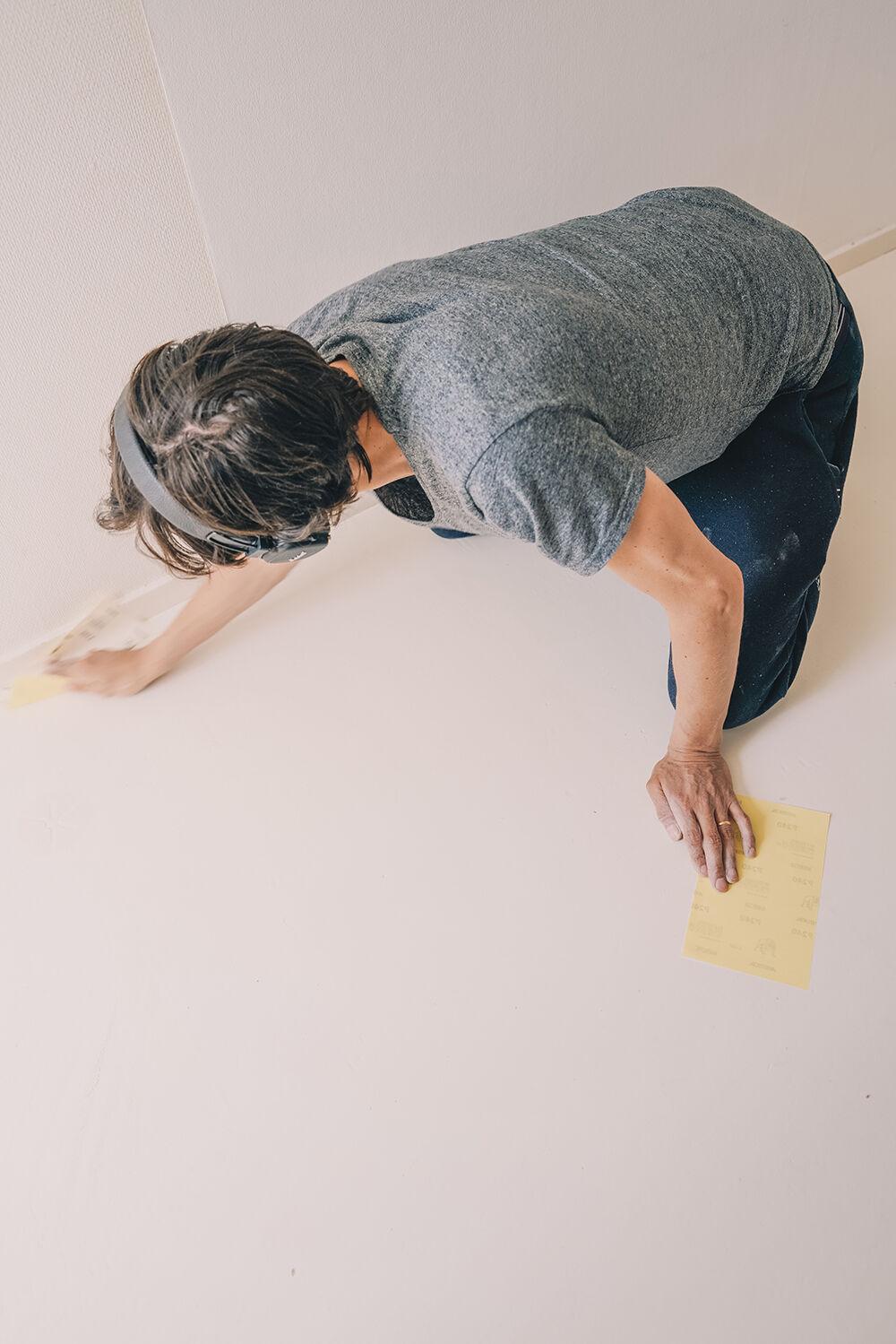 måla linoleumgolv plastmatta före och efter 2