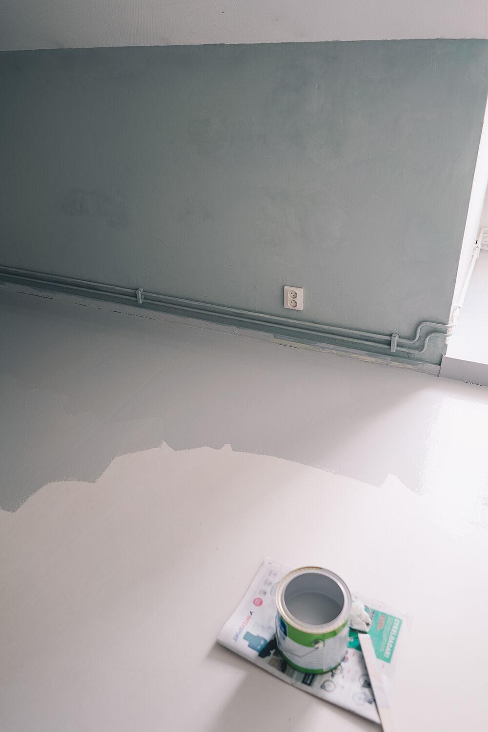 måla linoleumgolv plastmatta före och efter 6