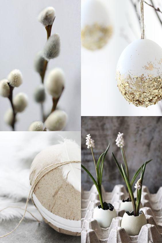 påskris ägg elegant
