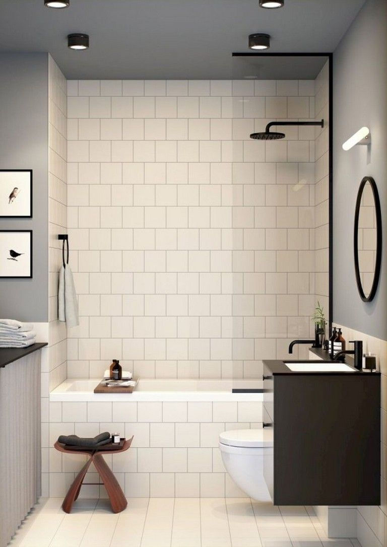30+ Unordinary Small Bathroom Design Remodel Ideas With Awesome Tiles To Try