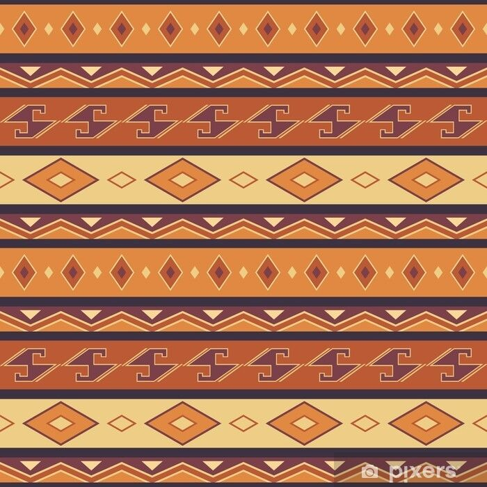 Abstract pattern, Seamless vector illustration with African moti