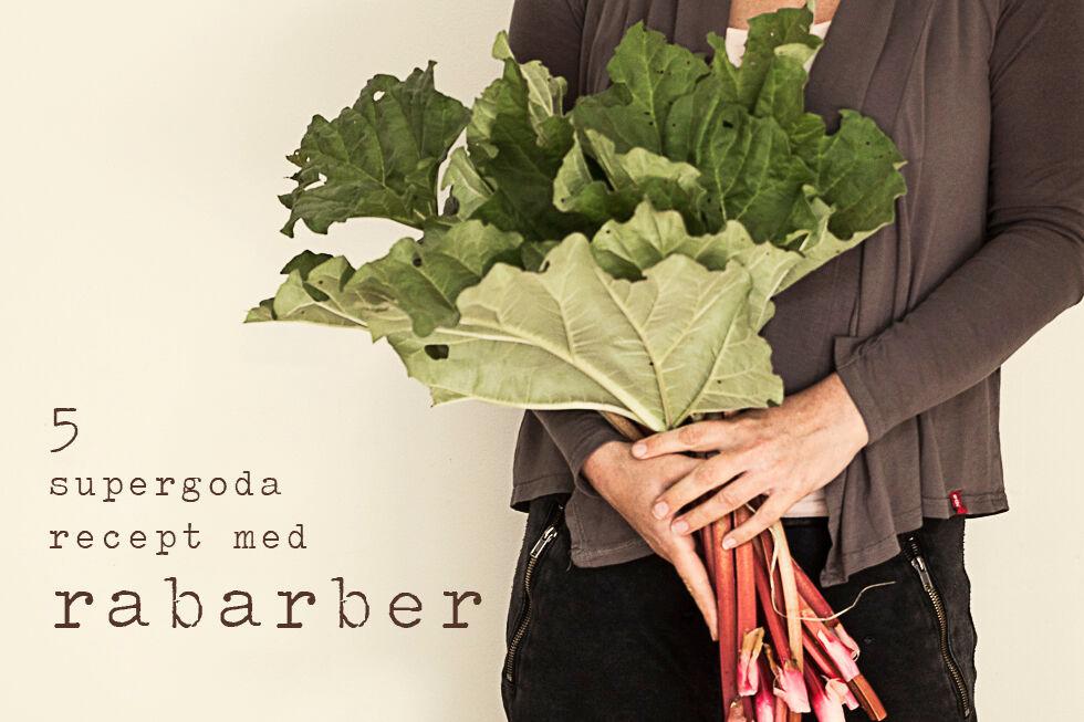 5 supergoda recept med rabarber