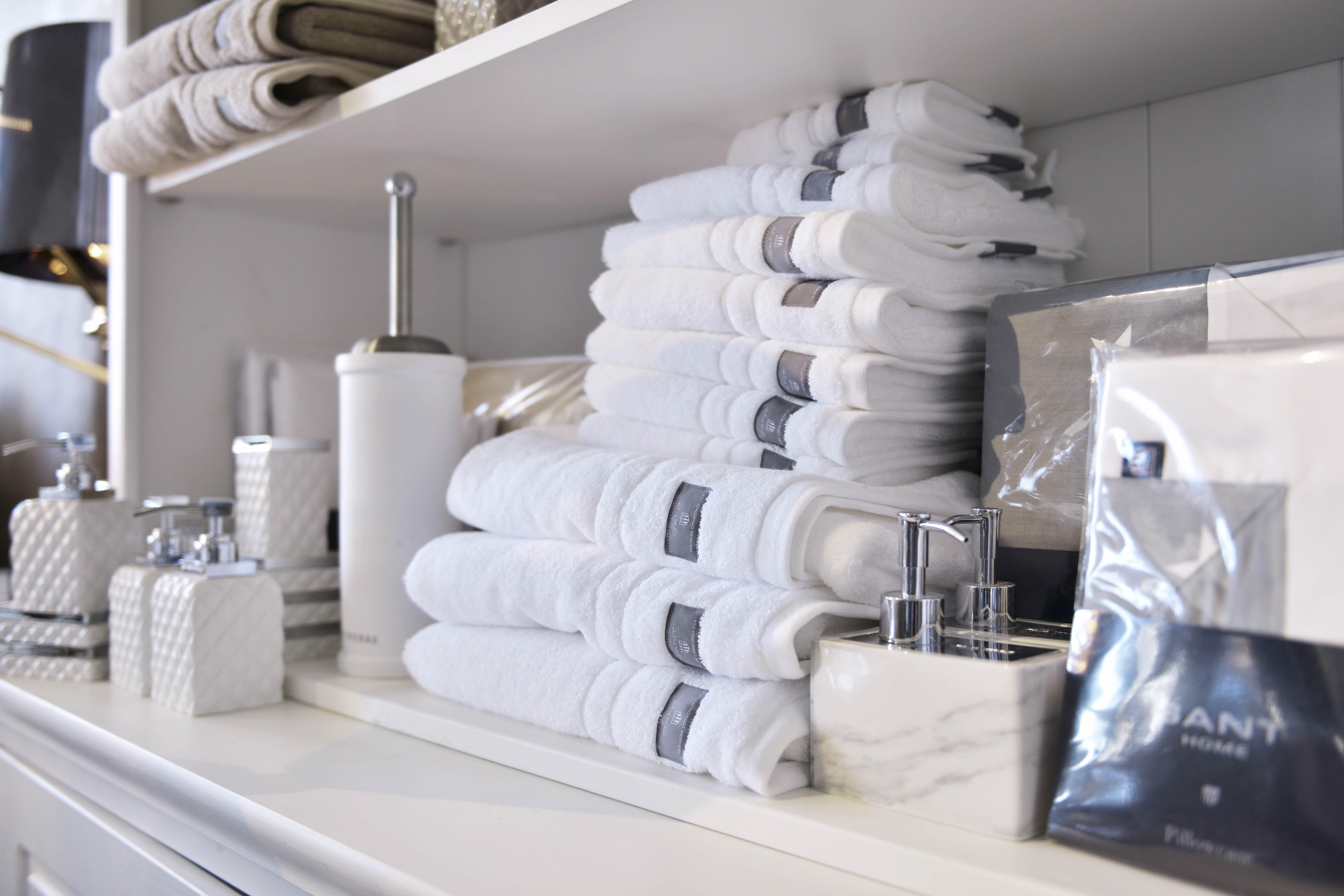 klassisk stil sportskor trevligt billigt Nya tjocka fluffiga handdukar och badlakan från GANT på REA