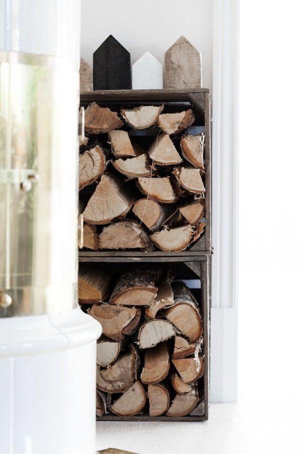 Vedförvaring i äppellådor – Anetteshus.com – Husligheter