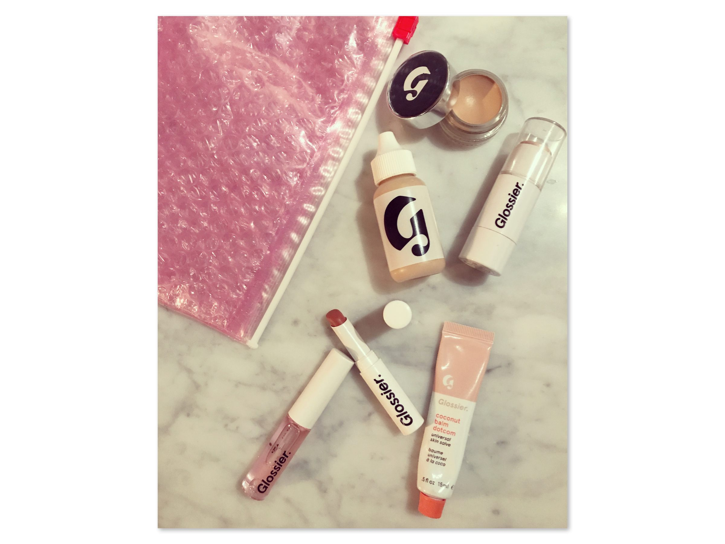 Glossier balm dotcom Haloscope Perfecting Skin Tint Stretch Concealer Lip Gloss Generation G