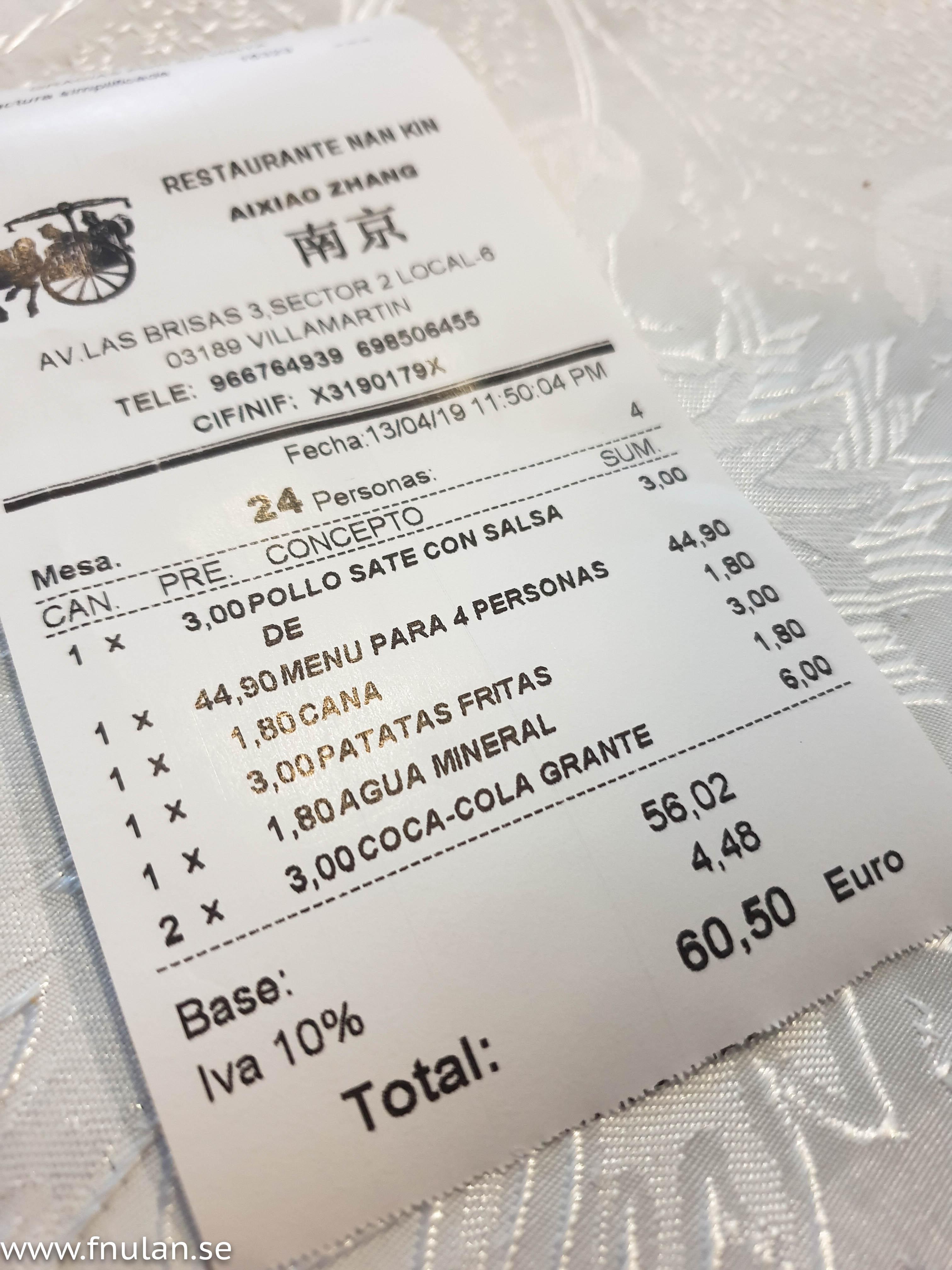 Kina restaurang Villamartin Torreveija