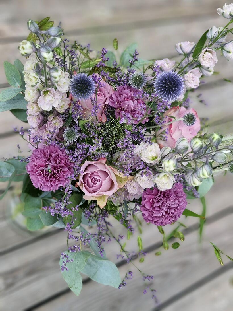 Blommor bröllopsdag