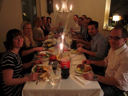 Trevligt sällskap och god mat