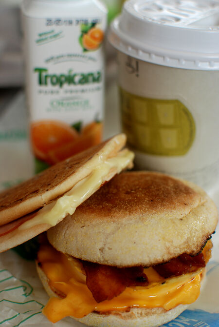 Startade dagen med frukost från McDonalds. Illa illa. Inte LCHF direkt ;-)
