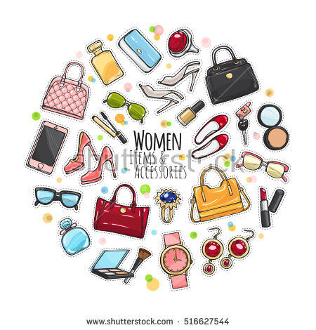 stock-vector-patch-of-fashion-accessories-woman-items-and-accessories-collection-of-bags-shoes-high-heels-516627544