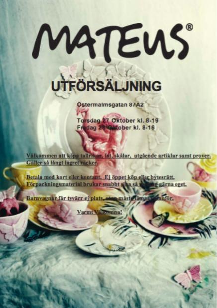 mateus utförsäljning 2016