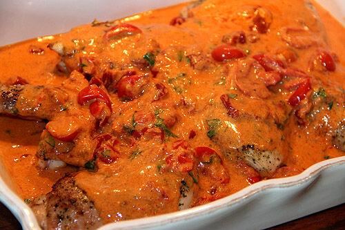kyckling_basilika_parmesan_tomatsås