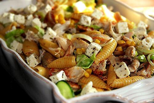 kycklingsallad_pasta_kyckling_recept