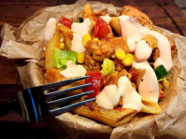 kycklingsallad_recept_pastasallad_dressing_ketchupsås_joline_nilsson_kryddburken_kycklingfile