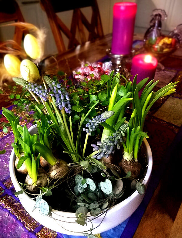 påskpynt_påsk_pyssel_lökar_dekoration_blomgrupp