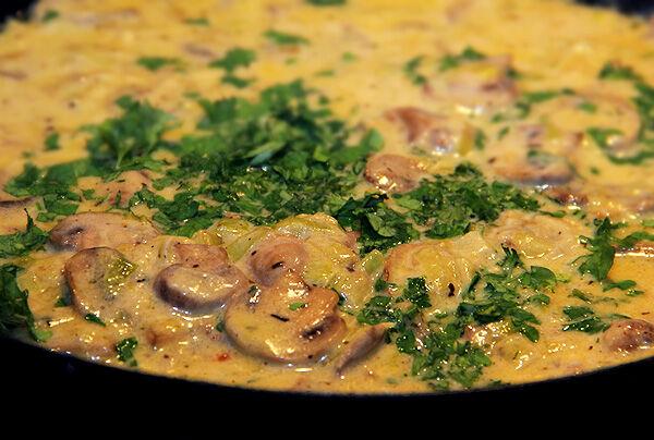 pasta_pastafjärilar_pastasås_champinjonsås_champinjonpasta_middagstips_recept_krämig_lunch