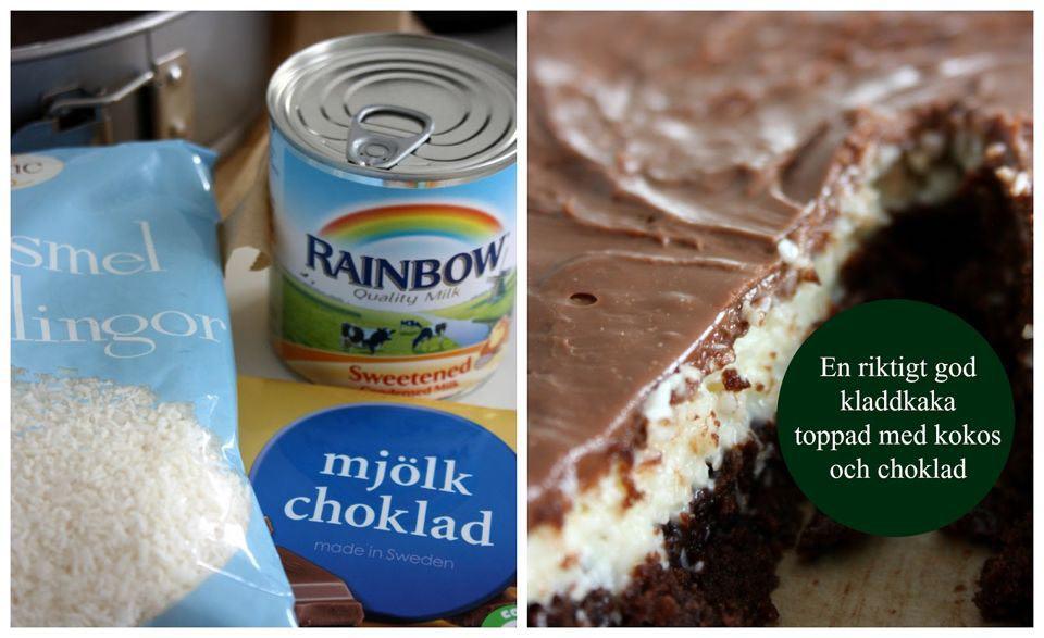 kladdkaka bounty mjölkchoklad