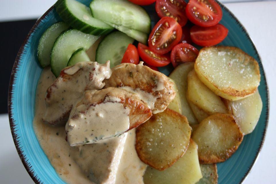 fläskytterfile stekt potatis