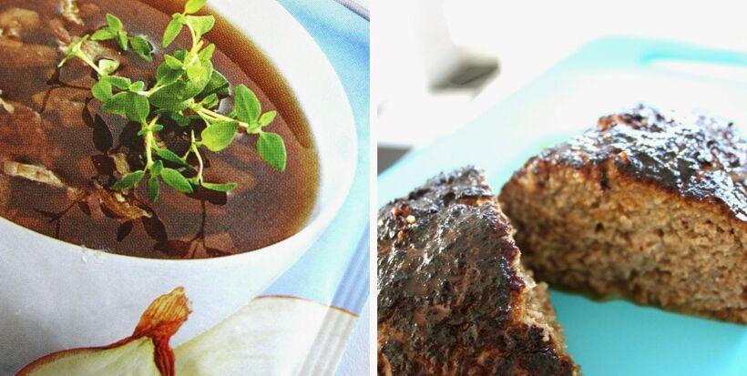 löksoppa fransk köttfärslimpor