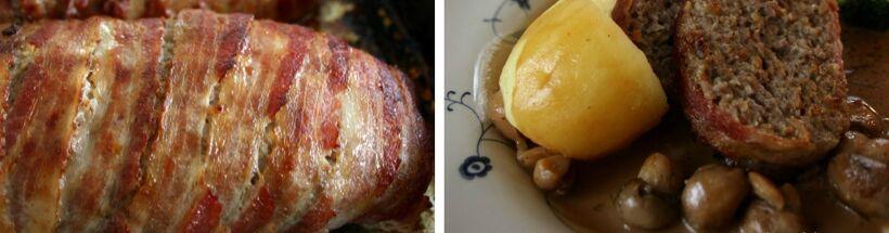 köttfärslimpor baconskivor