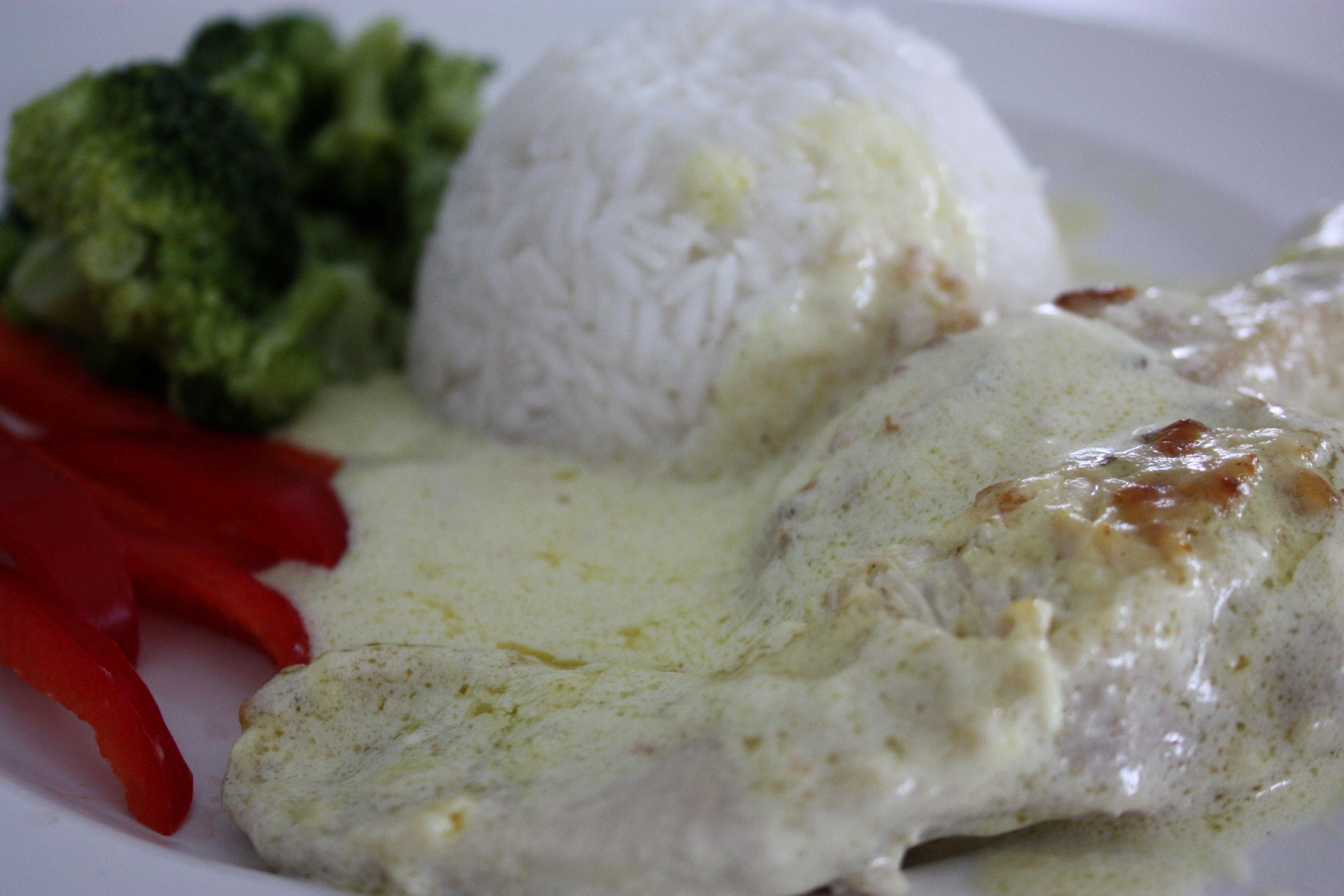 kyckling i vitlökssås