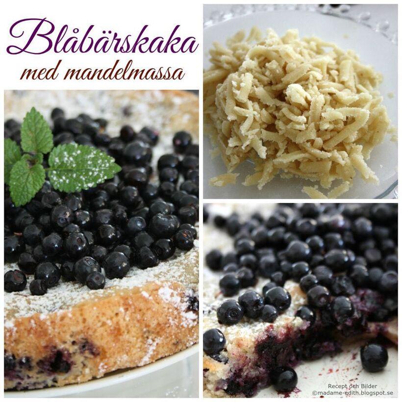 blåbärskaka mandelmassa recepten