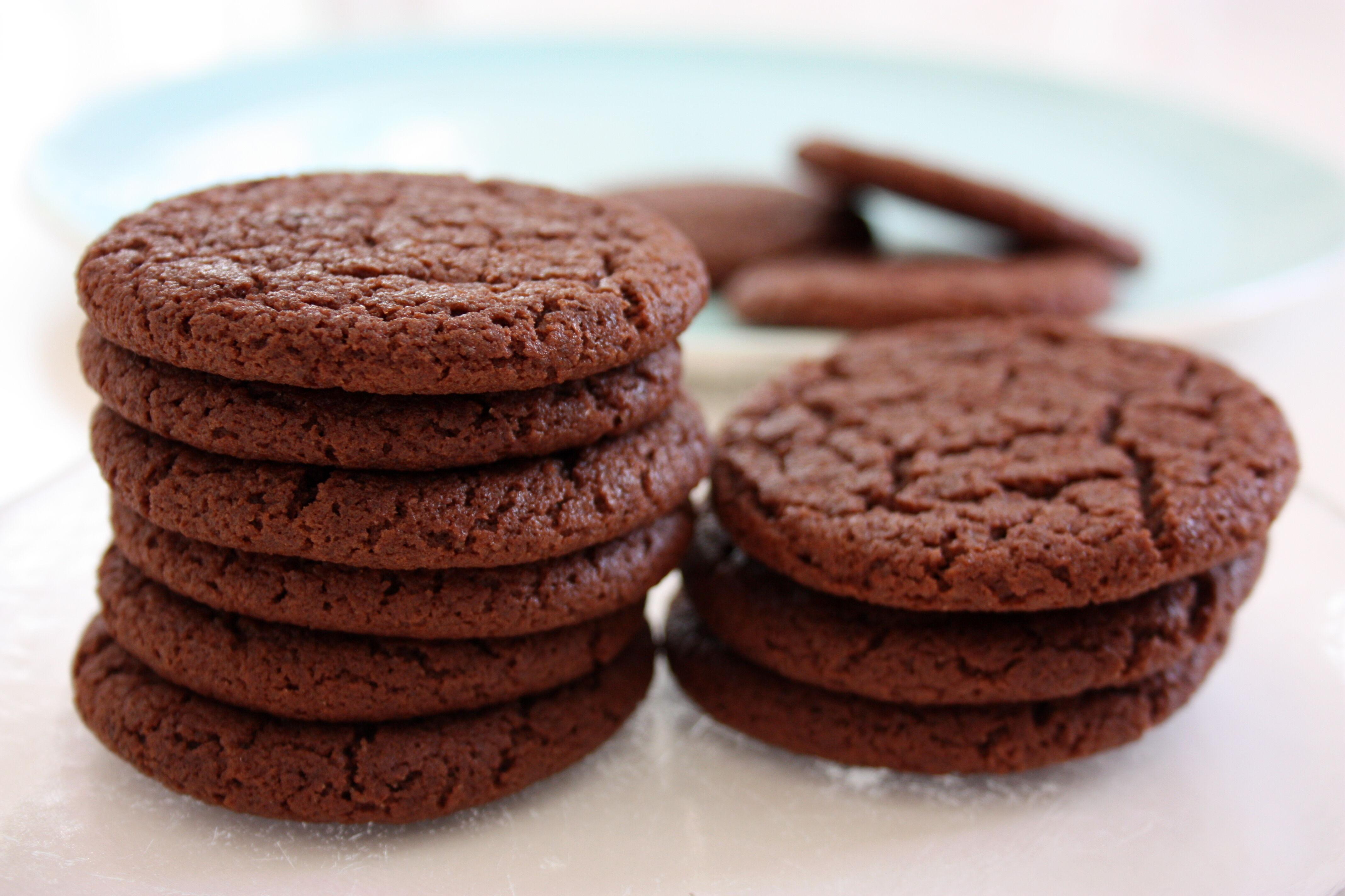 enkla kakor med choklad