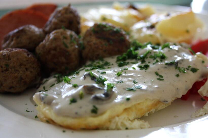 Omelett svampstuvning