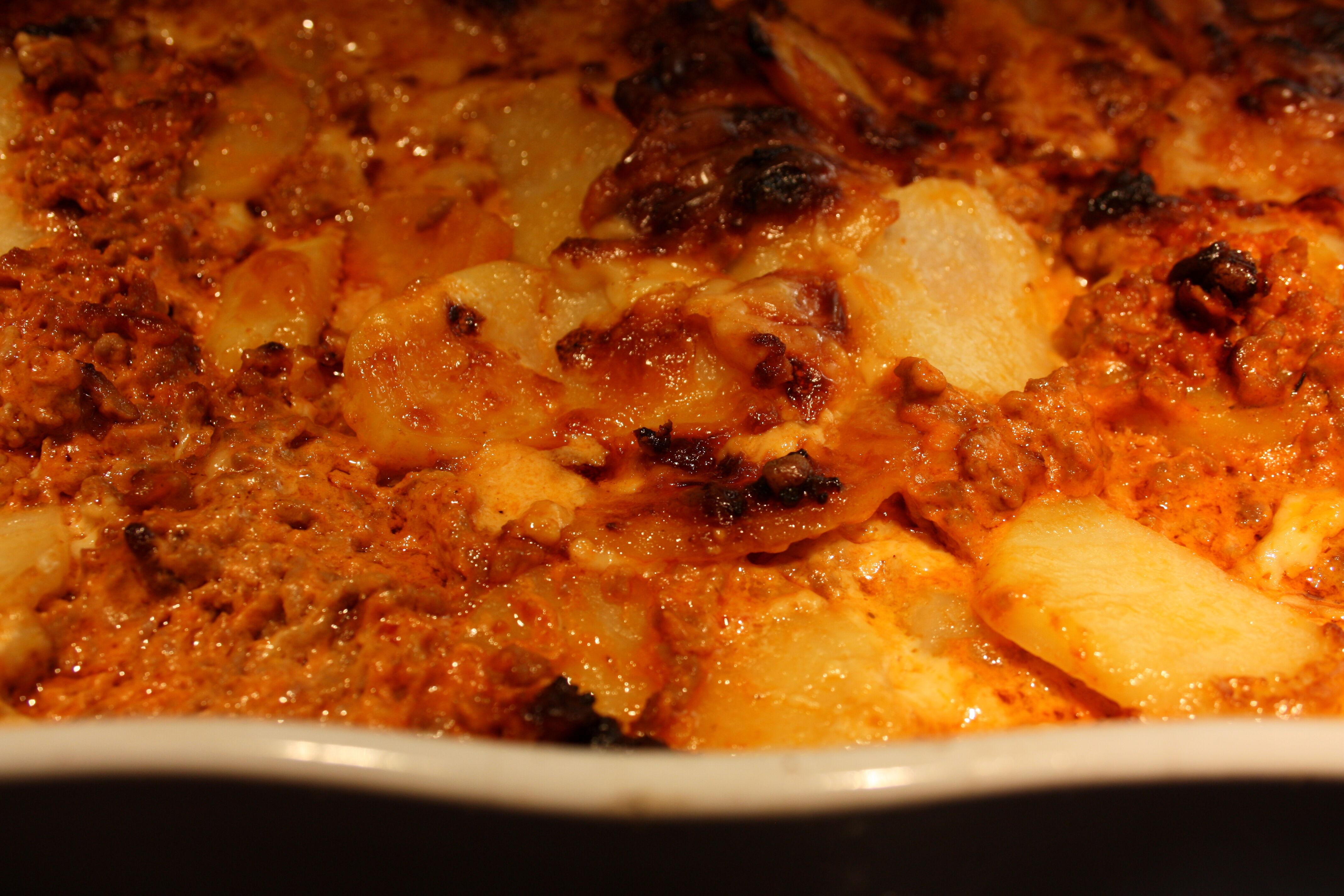 köttfärs potatisgratäng