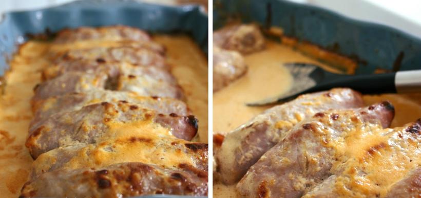 rullader köttfärs skinka