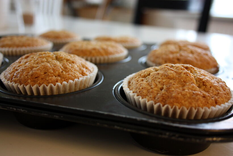 muffins kanel morot
