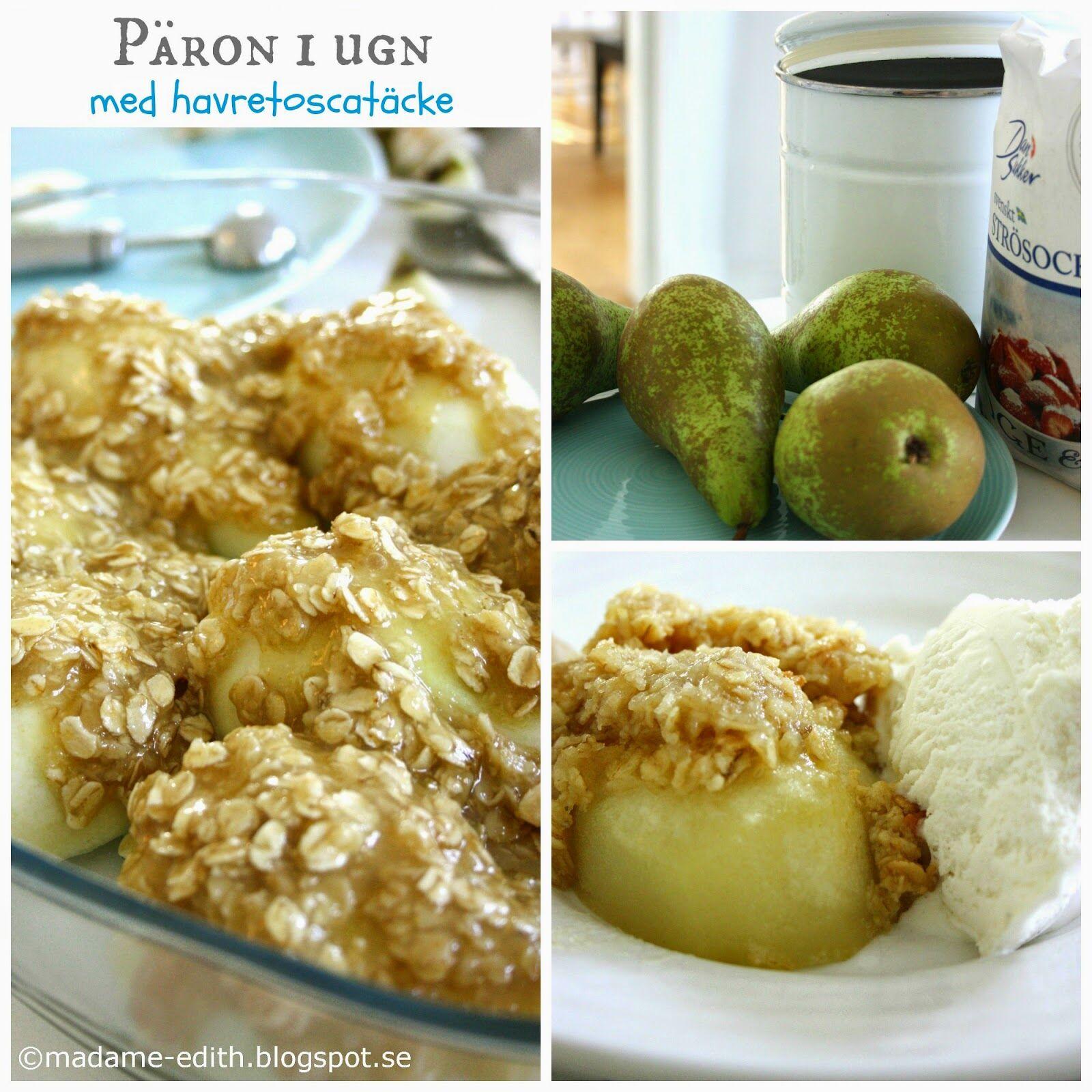 päron i ugn