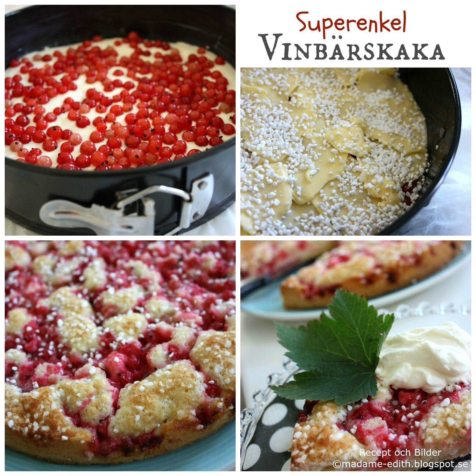 recept vinbärskaka