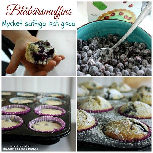saftiga och goda blåbärsmuffins