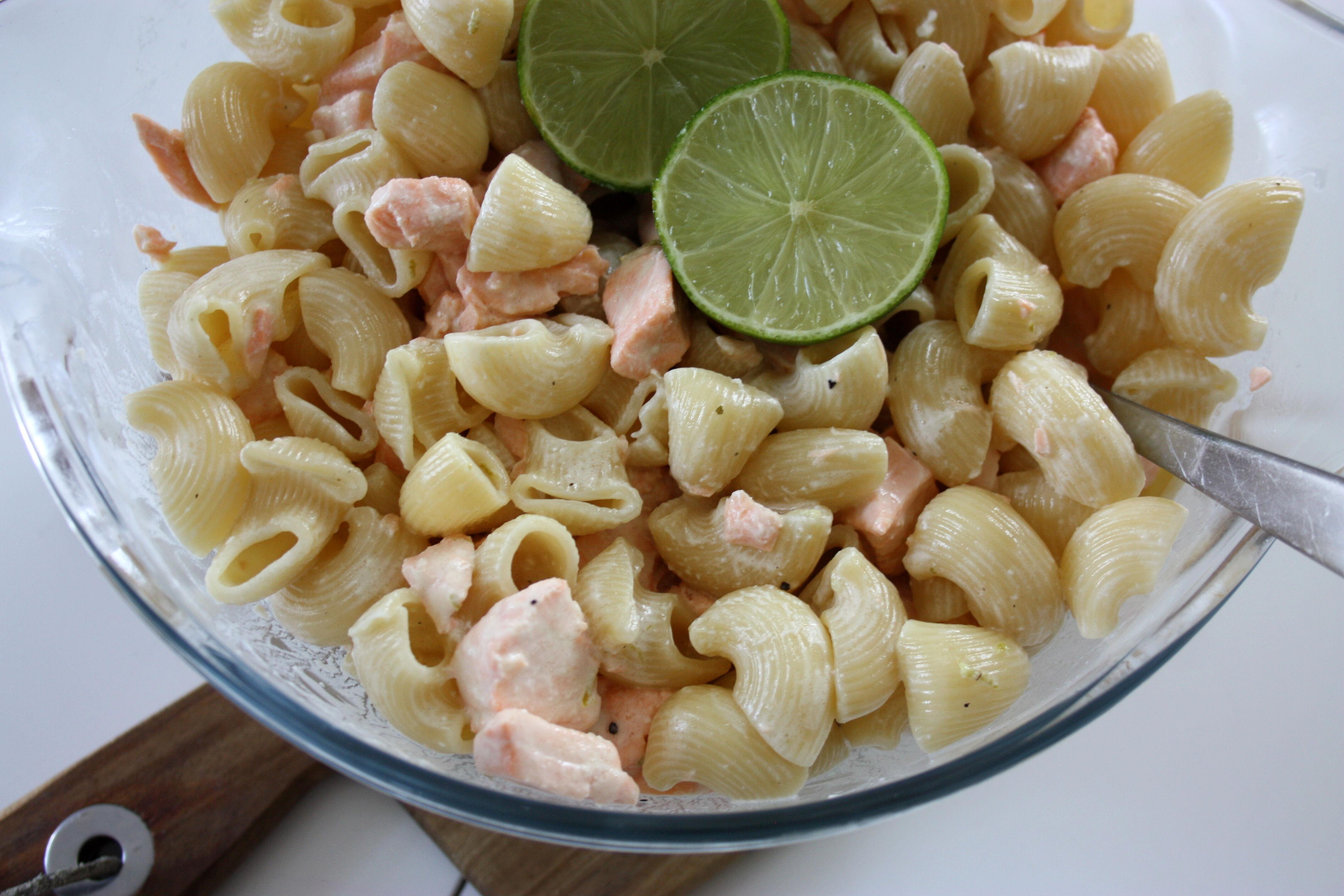 pasta lax grädde