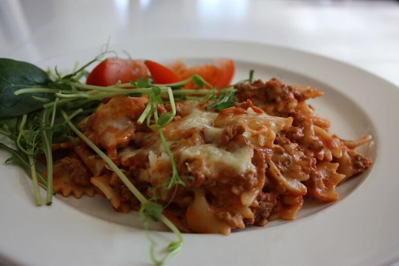 köttfärsgratäng pasta